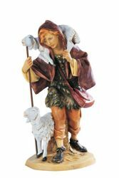 Picture of Shepherd with Sheep cm 52 (20 Inch) Fontanini Nativity Statue for Outdoor use, hand painted Resin