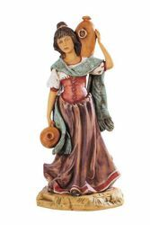 Picture of Shepherdess with Amphoras cm 52 (20 Inch) Fontanini Nativity Statue for Outdoor use, hand painted Resin