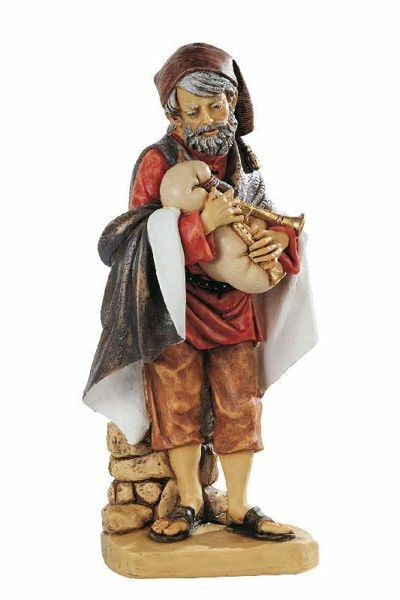 Picture of Shepherd with Zampogne cm 52 (20 Inch) Fontanini Nativity Statue for Outdoor use, hand painted Resin