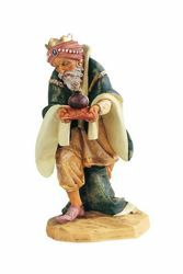 Picture of Wise King Caspar Standing cm 52 (20 Inch) Fontanini Nativity Statue for Outdoor use, hand painted Resin