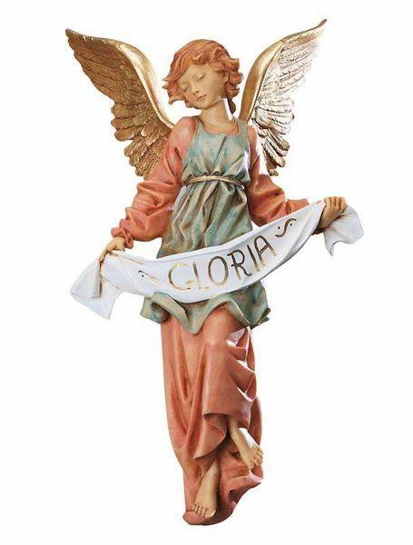 Imagen de Ángel Gloria cm 65 (27 Inch) Belén Fontanini Estatua para al Aire Libre en Resina pintada a mano