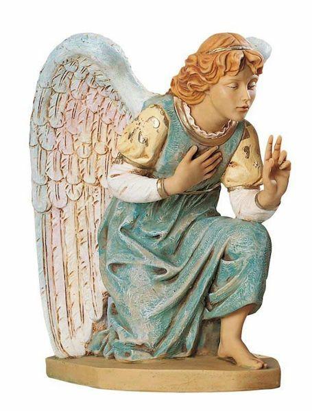Imagen de Ángel arrodillado cm 65 (27 Inch) Belén Fontanini Estatua para al Aire Libre en Resina pintada a mano