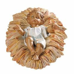 Picture of Baby Jesus and Cradle cm 65 (27 Inch) Fontanini Nativity Statue for Outdoor use, hand painted Resin