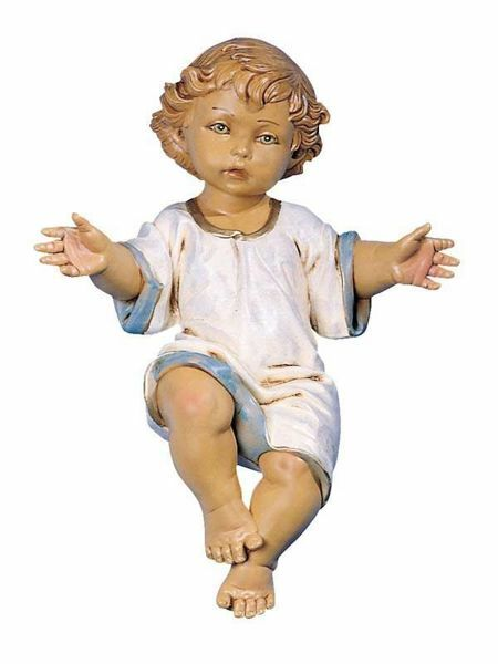 Picture of Baby Jesus cm 65 (27 Inch) Fontanini Nativity Statue for Outdoor use, hand painted Resin