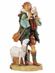 Picture of Shepherd with Sheep cm 65 (27 Inch) Fontanini Nativity Statue for Outdoor use, hand painted Resin