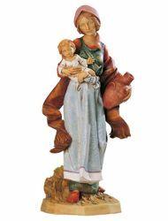 Immagine di Pastorella con Bimbo e Anfora cm 65 (27 Inch) Presepe Fontanini Statua per Esterno in Resina dipinta a mano