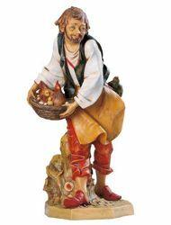 Immagine di Pastore con Gallina cm 65 (27 Inch) Presepe Fontanini Statua per Esterno in Resina dipinta a mano