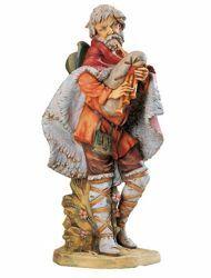 Imagen de Pastor con Gaita cm 65 (27 Inch) Belén Fontanini Estatua para al Aire Libre en Resina pintada a mano