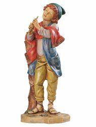 Imagen de Pastor con Flauta cm 65 (27 Inch) Belén Fontanini Estatua para al Aire Libre en Resina pintada a mano