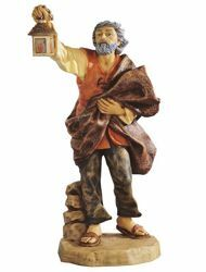 Picture of Shepherd with Lantern cm 65 (27 Inch) Fontanini Nativity Statue for Outdoor use, hand painted Resin