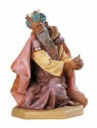 Immagine di Gaspare Re Magio Mulatto a piedi cm 65 (27 Inch) Presepe Fontanini Statua per Esterno in Resina