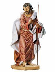 Immagine di San Giuseppe cm 65 (27 Inch) Presepe Fontanini Statua per Esterno in Resina dipinta a mano