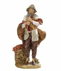 Picture of Shepherd with Zampogne cm 85 (34 Inch) Fontanini Nativity Statue for Outdoor use, hand painted Resin