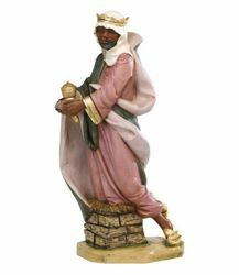 Picture of Wise King Balthazar Standing cm 85 (34 Inch) Fontanini Nativity Statue for Outdoor use, hand painted Resin