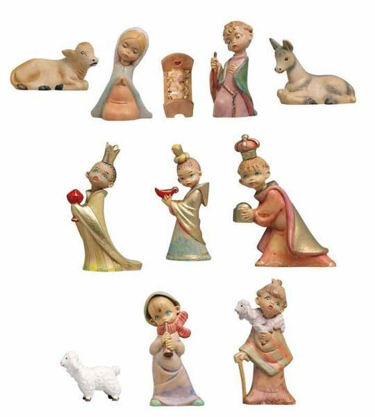 Picture of BABY Nativity Set Holy Family 11 Pieces cm 10 (4 Inch) Fontanini Nativity Figurines