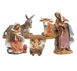 Picture of Nativity Set Holy Family 5 Pieces cm 45 (18 Inch) Fontanini Nativity Statues hand painted Plastic