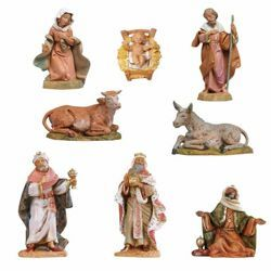 Picture of Nativity Set Holy Family 8 Pieces cm 12 (5 Inch) Fontanini Nativity Figurines hand painted Plastic