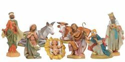 Picture of Nativity Set Holy Family 8 Pieces cm 17 (7 Inch) Fontanini Nativity Figurines hand painted Plastic