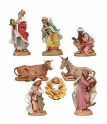 Picture of Nativity Set Holy Family 8 Pieces cm 19 (7,5 Inch) Fontanini Nativity Figurines hand painted Plastic