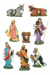 Picture of CLASSIC Nativity Set Holy Family 8 Pieces cm 30 (12 Inch) Fontanini Nativity Statues Traditional Colors Plastic