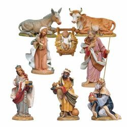 Picture of Nativity Set Holy Family 8 Pieces cm 30 (12 Inch) Fontanini Nativity Statues hand painted Plastic