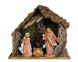 Picture of Nativity Set Holy Family with Stable 3 Pieces cm 30 (12 Inch) Fontanini Nativity Village Statues