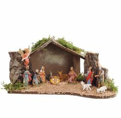 Picture of Nativity Set Holy Family with Stable 12 Pieces cm 4 (1,6 Inch) Fontanini Nativity Village Figurines
