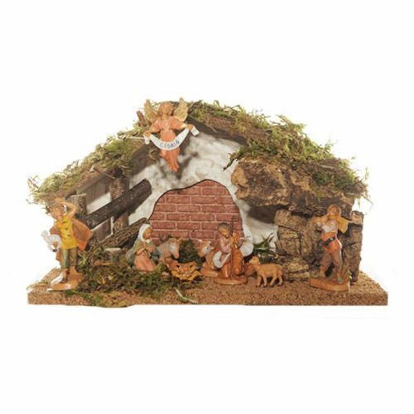 Picture of Nativity Set Holy Family with Stable 9 Pieces cm 6,5 (2,5 Inch) Fontanini Nativity Village Figurines