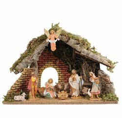 Picture of Nativity Set Holy Family with Stable 9 Pieces cm 9,5 (3,6 Inch) Fontanini Nativity Village Figurines