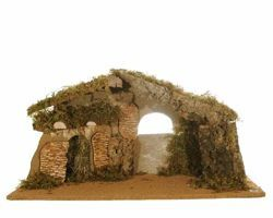 Picture of Stable with Carillon cm 12 (5 Inch) Fontanini Nativity Village in Wood, Cork, Moss - handmade