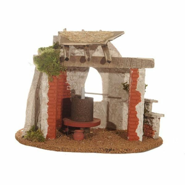 Picture of Stable cm 30 (12 Inch) Fontanini Nativity Village in Wood, Cork, Moss - handmade