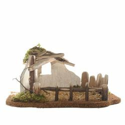 Picture of Sheepfold cm 12 (5 Inch) Fontanini Nativity Village in Wood, Cork, Moss - handmade