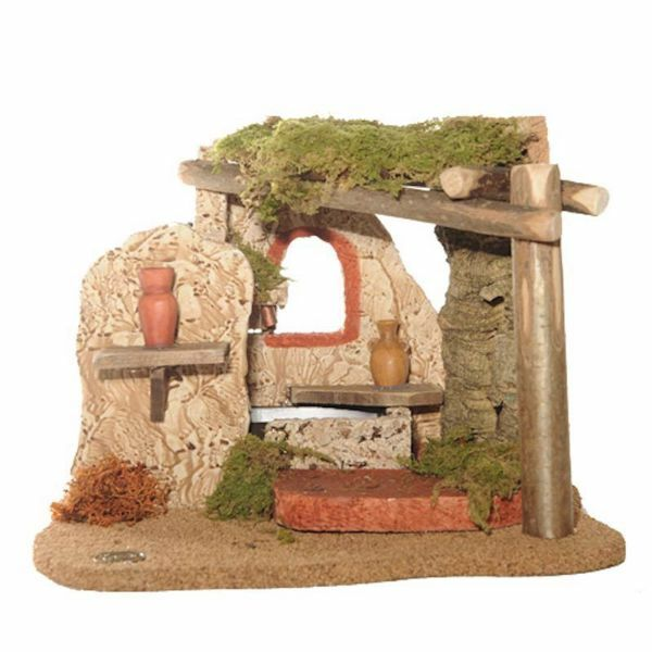 Picture of Fountain with Water cm 12 (5 Inch) Fontanini Nativity Village in Wood, Cork, Moss - handmade