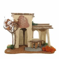 Picture of Inn cm 12 (5 Inch) Fontanini Nativity Village in Wood, Cork, Moss - handmade