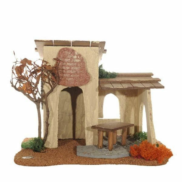 Picture of Inn cm 12 (5 Inch) Fontanini Nativity Village in Wood, Cork, Moss - handmade