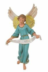 Picture of Glory Angel cm 30 (12 Inch) CLASSIC Fontanini Nativity Statue Traditional Colors Plastic