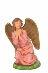 Picture of Kneeling Angel cm 30 (12 Inch) CLASSIC Fontanini Nativity Statue Traditional Colors Plastic
