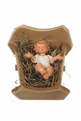 Picture of Baby Jesus and Cradle cm 30 (12 Inch) CLASSIC Fontanini Nativity Statue Traditional Colors Plastic