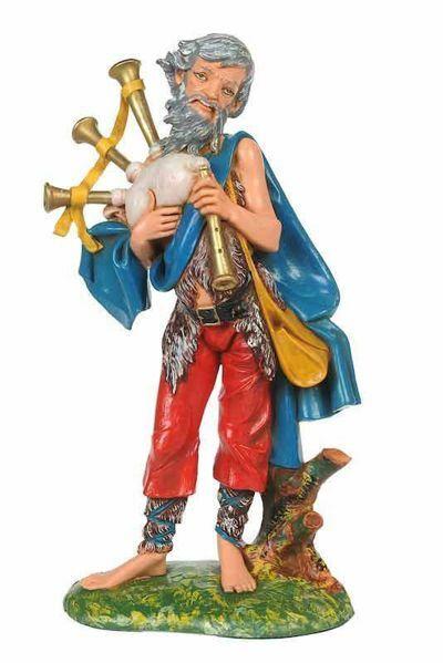 Picture of Shepherd with Zampogne cm 30 (12 Inch) CLASSIC Fontanini Nativity Statue Traditional Colors Plastic