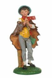 Picture of Shepherd with Flute cm 30 (12 Inch) CLASSIC Fontanini Nativity Statue Traditional Colors Plastic