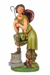 Picture of Shepherd with Stick cm 30 (12 Inch) CLASSIC Fontanini Nativity Statue Traditional Colors Plastic