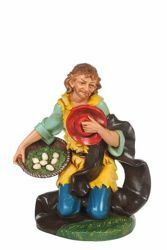 Picture of Kneeling Shepherd cm 30 (12 Inch) CLASSIC Fontanini Nativity Statue Traditional Colors Plastic