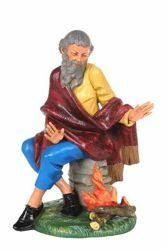 Picture of Shepherd with Fire cm 30 (12 Inch) CLASSIC Fontanini Nativity Statue Traditional Colors Plastic