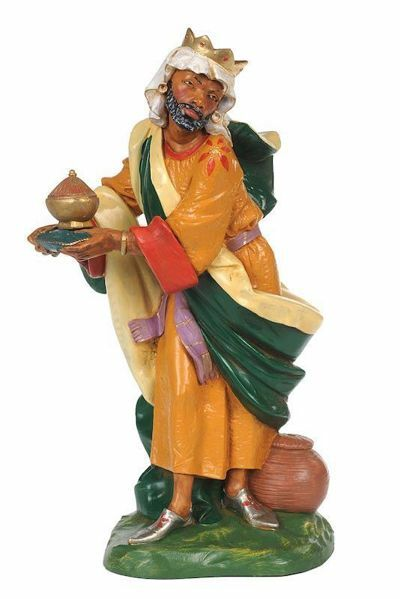 Picture of Wise King Balthazar Standing cm 30 (12 Inch) CLASSIC Fontanini Nativity Statue Traditional Colors Plastic