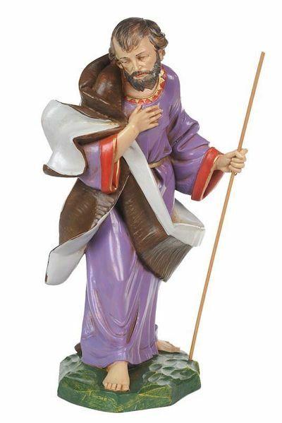 Picture of Saint Joseph cm 30 (12 Inch) CLASSIC Fontanini Nativity Statue Traditional Colors Plastic