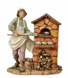 Picture of Baker cm 30 (12 Inch) Fontanini Nativity Statue hand painted Plastic