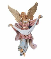 Picture of Glory Angel cm 30 (12 Inch) Fontanini Nativity Statue hand painted Plastic