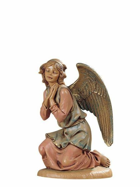 Immagine di Angelo in ginocchio cm 30 (12 Inch) Presepe Fontanini Statua in Plastica dipinta a mano