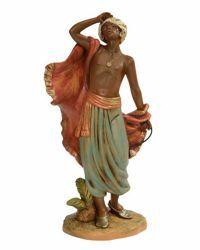 Imagen de Camelero de pie cm 30 (12 Inch) Belén Fontanini Estatua en Plástico pintada a mano