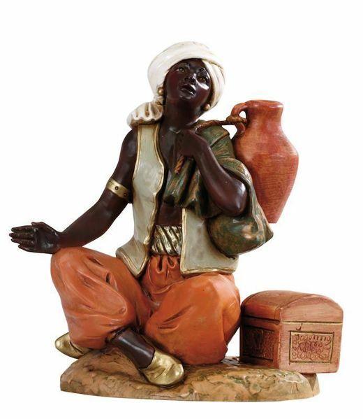 Imagen de Camelero sentado cm 30 (12 Inch) Belén Fontanini Estatua en Plástico pintada a mano